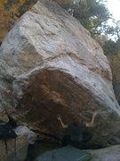 Rock Climbing Photo: Ian on the burly start