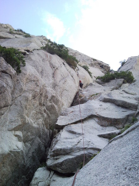 Rock Climbing Photo: the start of expect no mercy - this is where you m...