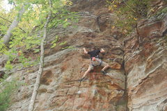 Rock Climbing Photo: Bradley K. with his first time on Stay Left.