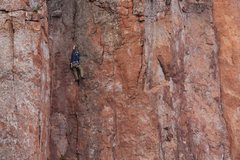 Rock Climbing Photo: me on socket wrench