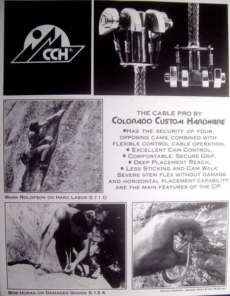 CCH's 1st brochure circa 1987