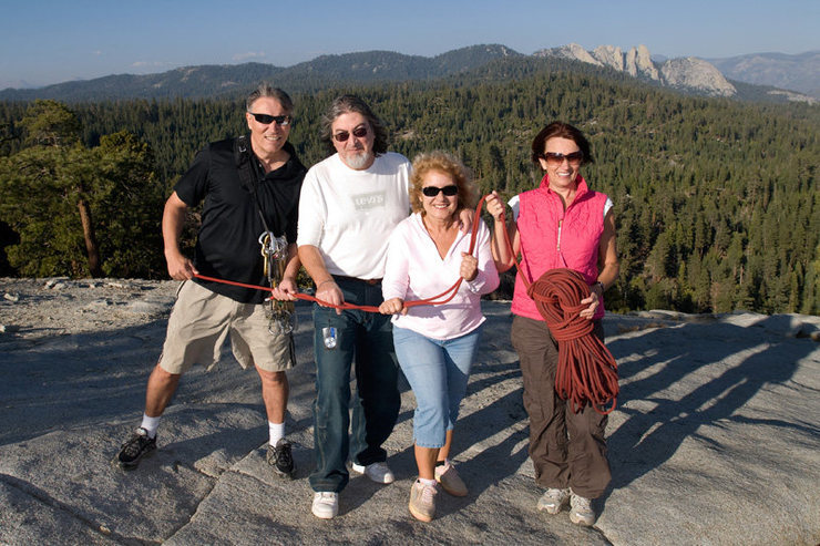 We ran into these very friendly Romanian tourists atop Dome Rock.  They were very excited about the site of climbers.