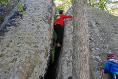 Rock Climbing Photo: Downclimb crack
