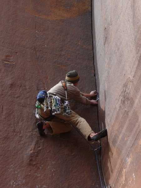 "Rock Climbing Photo: Milking the friction on ""Fuel Injected Hardbo..."