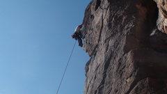 Rock Climbing Photo: Jenny climbing sunrise buttress.