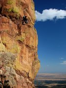 Rock Climbing Photo: Steve on Saturday's Folly.  Great route!  October ...