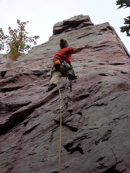 Rock Climbing Photo: Vinny getting ready to commit.