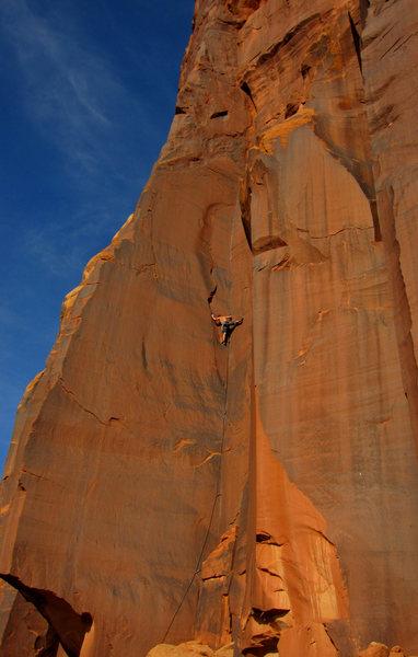 Rock Climbing Photo: Brian on Black Uhuru