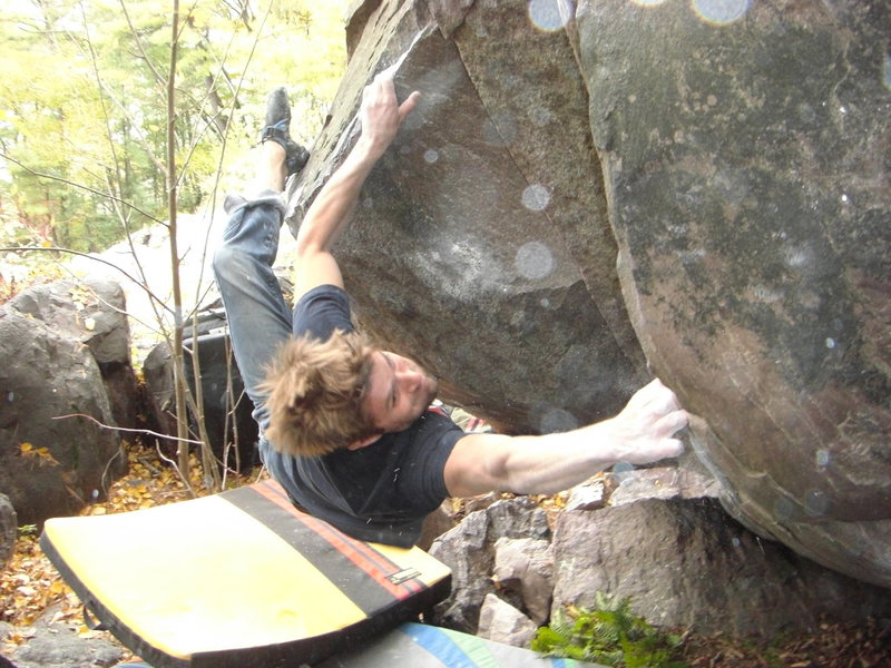 Rock Climbing Photo: Nic sticking it to Moj.