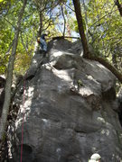 Rock Climbing Photo: A super stoked Nic at the top.