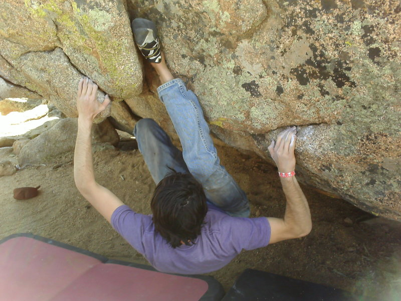 Rock Climbing Photo: This little move was something fun, got a heal/ to...