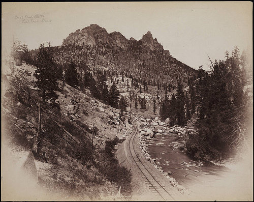 William Henry Jackson photo of Cathedral Spires circa 1880s. Pretty cool. See here for more: http://www.flickr.com/search/?q=colorado&w=23948320%40N05&ss=2&z=m