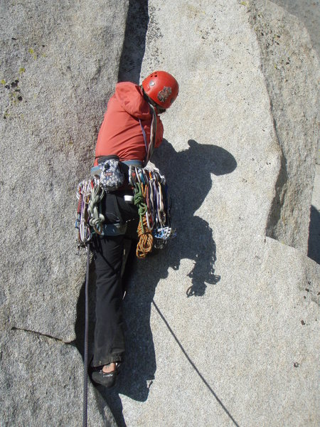 Rock Climbing Photo: Ginger on p1