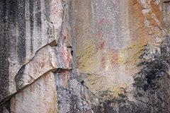 Rock Climbing Photo: Starting up the crack.  Photo by Ian Desberg.