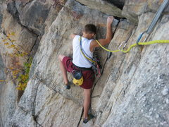 Rock Climbing Photo: Eric on 2nd pitch (we broke it into 3 pitches to a...