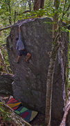 """Rock Climbing Photo: Moving Meditiation...FA on the backside of """"T..."""
