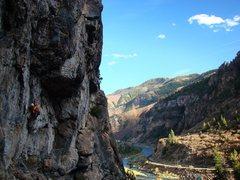 Rock Climbing Photo: Low down on Kor's Corner, October 09.  Super fun r...