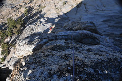 Rock Climbing Photo: Starting the traverse from the notch at the southe...