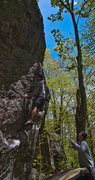 "Rock Climbing Photo: ""One Might Think""....fortress boulder"