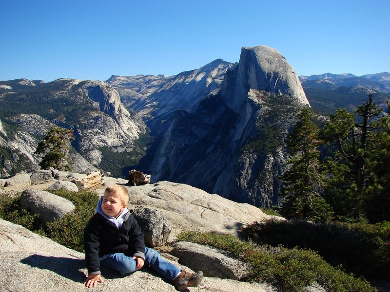 The boy at Glacier Point, Yosemite.  Sept 09.