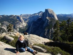 Rock Climbing Photo: The boy at Glacier Point, Yosemite.  Sept 09.