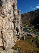 Rock Climbing Photo: SteveZ flashing Youth Warmup, October '09.