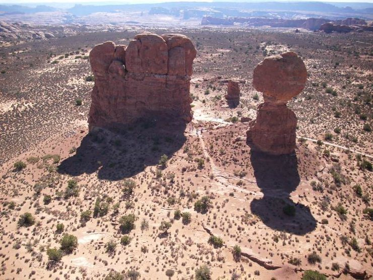 Rock Climbing Photo: Bubo tower as seen from off-balaced rock. The rout...