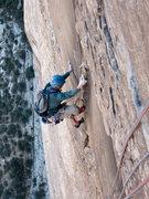 Rock Climbing Photo: Vaino Kodas, cruising the p6 crux