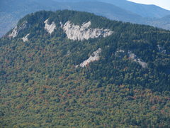 Rock Climbing Photo: Greens Cliff viewed from the NE (from the top of O...