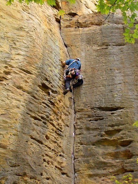 Rock Climbing Photo: Father and Son, Red River Gorge
