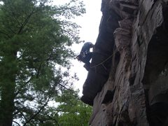 Rock Climbing Photo: Rogers Roof. Devils Lake, WI