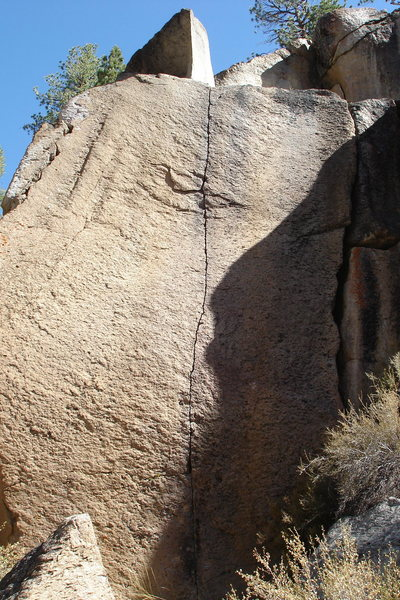 Rock Climbing Photo: Block and Tackle 5.12a - thin fingers up the face.