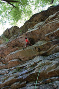 Rock Climbing Photo: Working through the tiered overhangs of Humpty Dum...