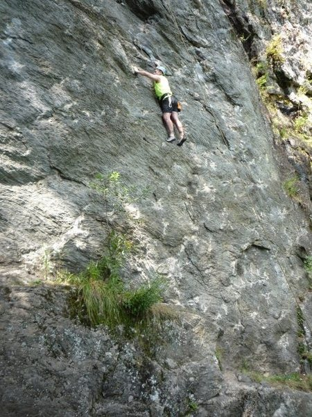 That's me on some route at Rumney Rocks