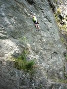 Rock Climbing Photo: That's me on some route at Rumney Rocks