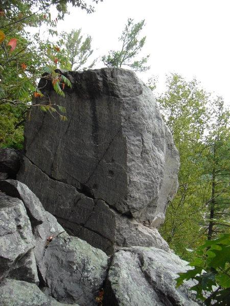 Rock Climbing Photo: Climb goes up arete.