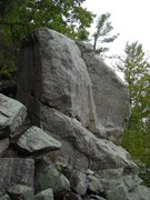 Rock Climbing Photo: View from below the boulder.