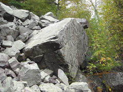 Rock Climbing Photo: This boulder is very cool.  The boulder is much la...