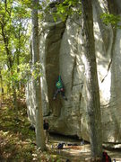 Rock Climbing Photo: Another picture dug up from the past.  Climber: Rh...