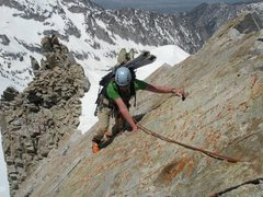 Rock Climbing Photo: Some of the best rock on the North Ridge.  Althoug...
