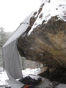 Rock Climbing Photo: Virgin Martini in the winter.