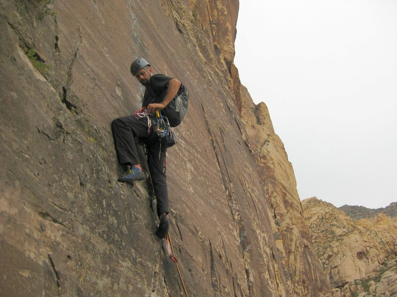 Rock Climbing Photo: Jonny on pitch one of WF. 10/14/09