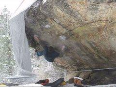 Rock Climbing Photo: First move