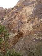 Rock Climbing Photo: Andy dancing up the second pitch of Amber.   10/14...