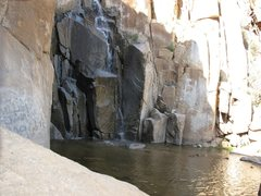Rock Climbing Photo: A view of the falls and the pool beneath.  It's on...