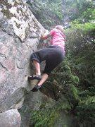 Rock Climbing Photo: last moves