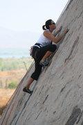 Rock Climbing Photo: me along Pudnerdal
