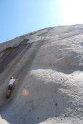 Rock Climbing Photo: Bill climbing