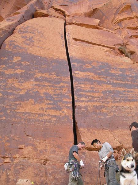 Rock Climbing Photo: Josh gearing up to grovel