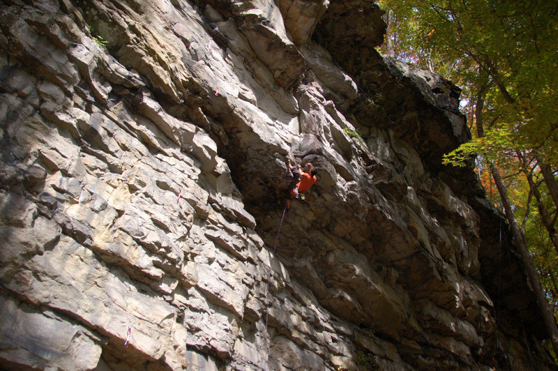 Rock Climbing Photo: Pulling the first roof on Kaya 5.11b Schoolhouse C...